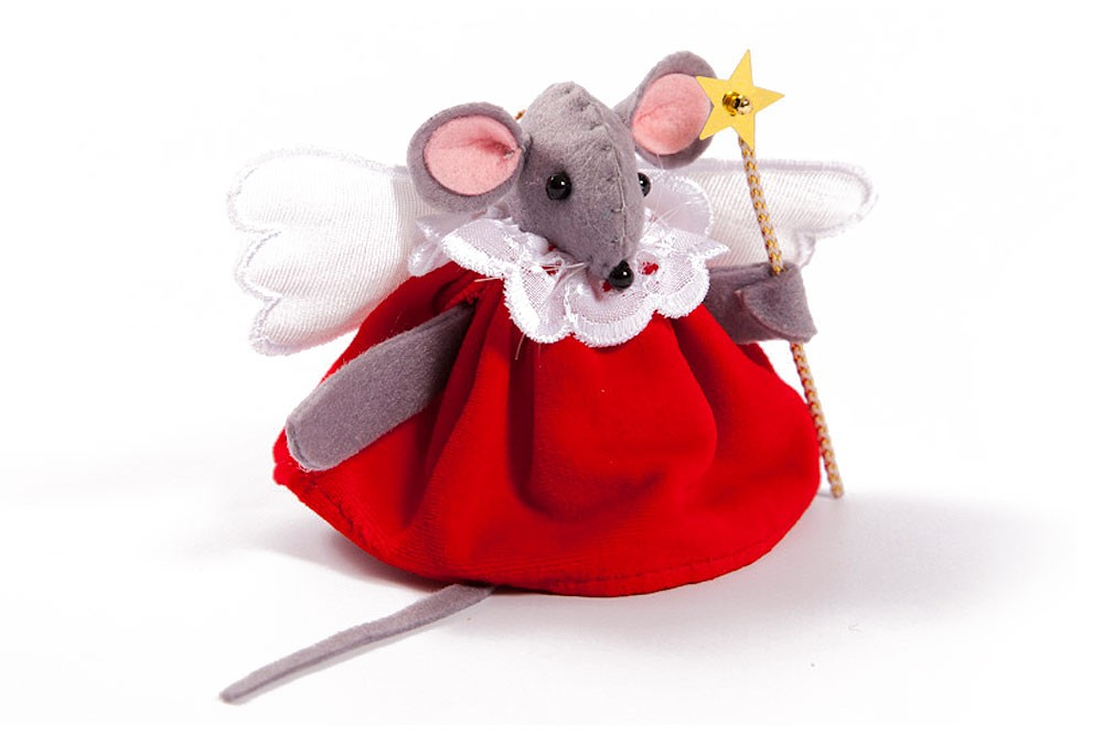 Christmas Mouse.Christmas Angel Mouse Tree Decoration