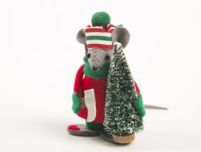 Christmas Mouse w Tree