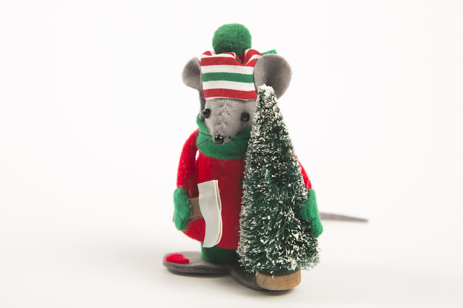 christmas tree mouse decoration