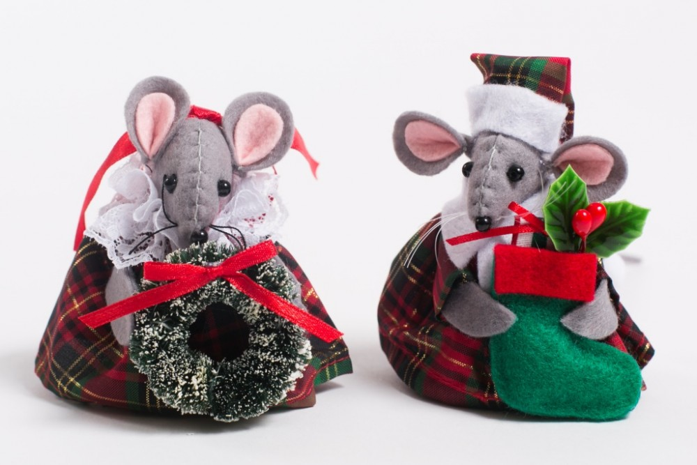 Christmas Mr & Mrs Tartan Mouse 2