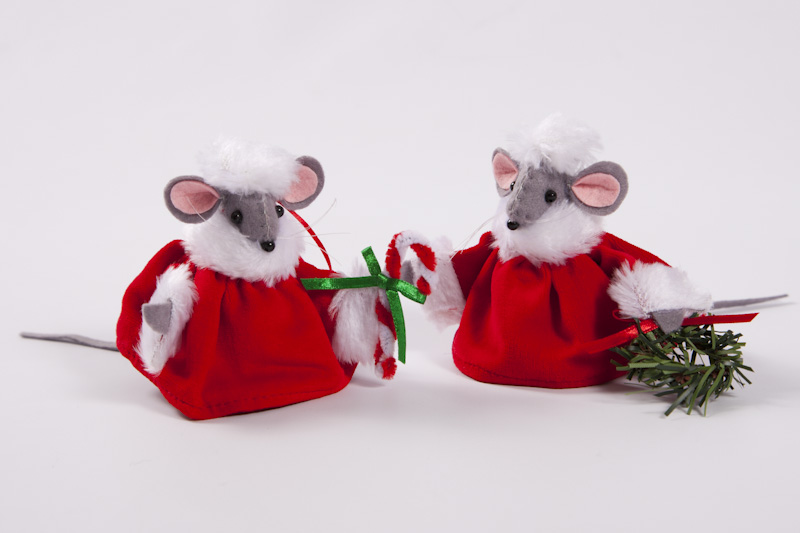 christmas velvet mice - Christmas Mouse Decorations