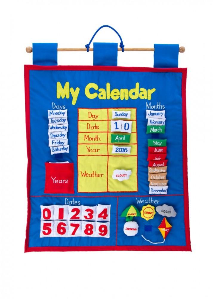 My Calendar Fabric Wall Hanging Plaid Tidings