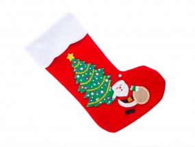 Stocking Santa landscape (Medium)