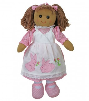 Pink Rabbit Rag Doll